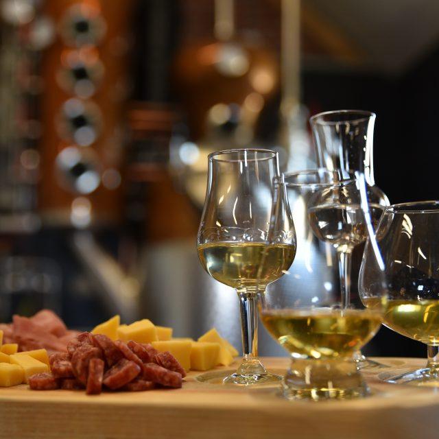 Distilleerderij de Bronckhorst Proeflokaal Proefplankje Distillaat Whisky